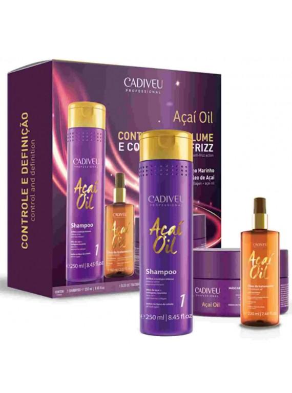 Acai Oil – Kit Home Care (Шампунь, Маска, Масло 60мл)