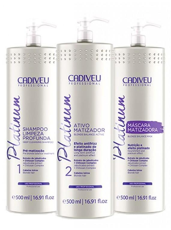Набор для проведения процедуры цистеирования волос для блондинок Platinum 500 ml
